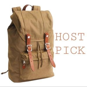 JCREW *HOST PICK* Faux Leather and Nylon Backpack